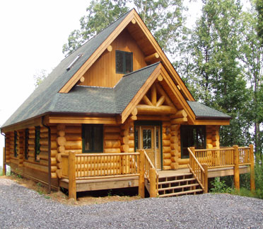 Timber log home designs - Home design and style