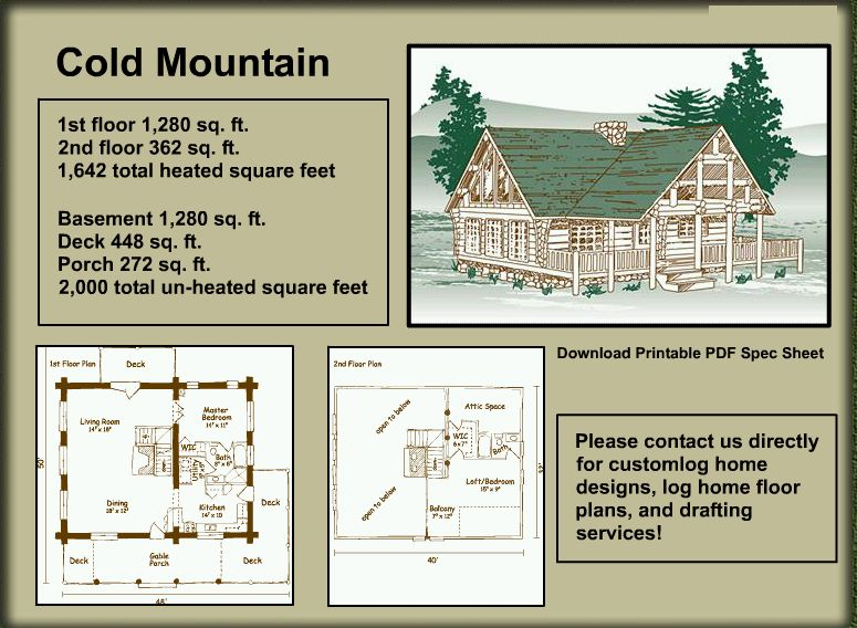 Log Home Package - Cold Mountain