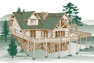 Eagles Nest Log Home Package