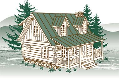 Laurel Getaway Log Home Package