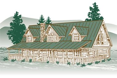 Madison Log Home Packages