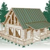 Great Mountain View Log Home Package