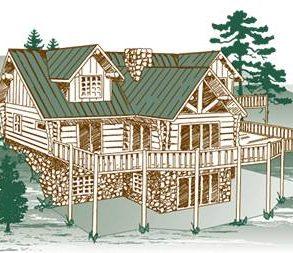 Eagles Nest Log Home Package