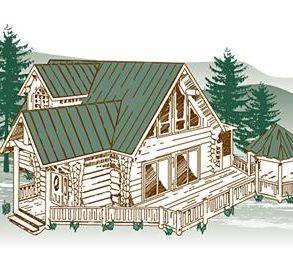 Hidden Lake Log Home Package