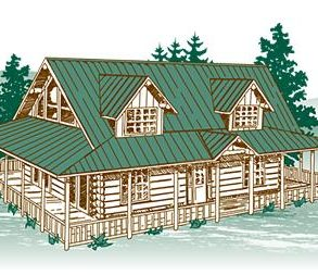 Mica Meadows Log Home Package